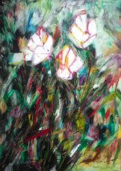 Białe róże w turkusie - 0.00